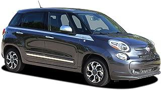 MoProAuto Pro Design Series Sidekick : 2014 Fiat 500L 4 Door Wide Upper Door 500L Style Vinyl Graphic Decal Stripes (Fits 4 Door Models) (Color-3M 5095 Matte Black)