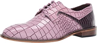 Stacy Adams Mens Triolo Croc Lizard Print Lace-up Oxford
