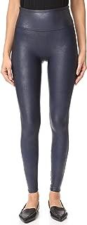 Spanx Women's Faux Leather Leggings Night Navy Medium