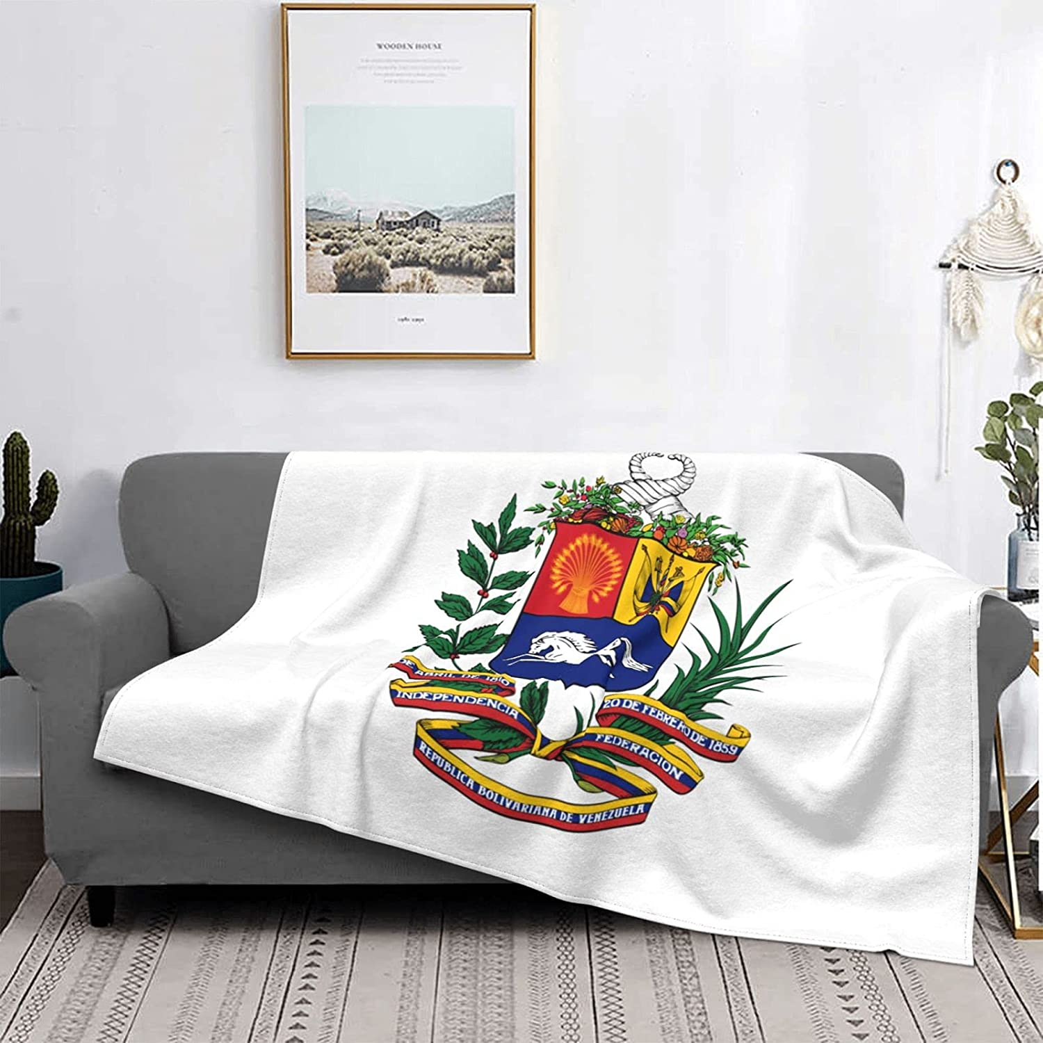 Coat Max 50% OFF of Arms Venezuela Blanket Soft Flannel Throw Online limited product Blanke Warm