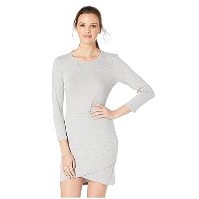 Jack by BB Dakota Brush Up On It Knit Dress (Light Heather Grey) Women