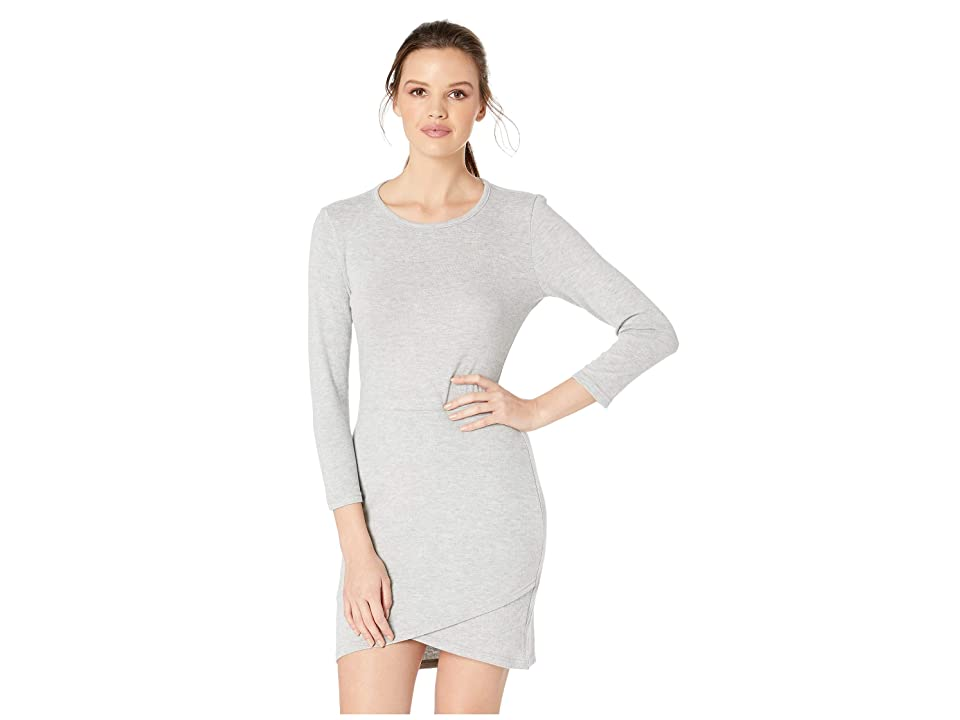 Jack by BB Dakota Brush Up On It Knit Dress (Light Heather Grey) Women
