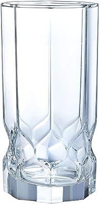 Luminarc N7406 vidrio refrigerante de topacio 16 onzas, juego de 4, transparente