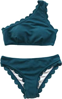 35c675c08a9 Amazon.com: One Shoulder - Bikinis / Swimsuits & Cover Ups: Clothing ...