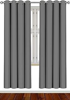 comprar comparacion Utopia Bedding Cortina Opaca - Cortinas Aislantes Térmicas - Juego de 2 Paneles con Ojales - (140 x 245 cm, Gris)