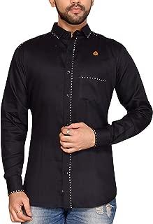 PP Shirts Men Black Coloured Casual Shirt