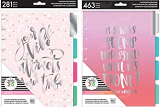 Classic Happy Planner Undated Extensions Bundle - Monthly and Hourly Planner Add-Ons - 2 Items
