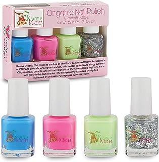 Karma Kids Nail Polish Box Set No. 1 Natural Safe Nail Polish for Little Girls - Non-Toxic, Vegan, and Cruelty Free – Quic...