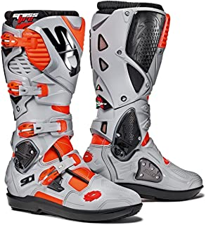 Sidi Crossfire 3 SRS Off Road Motorcycle Boots Red Flo/Ash US12.5/EU47 (More Size Options)