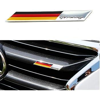 Drapeau allemand emblème badge voiture Front Grill Autocollant Style Grille Auto