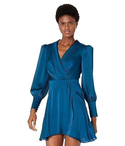 BCBGMAXAZRIA Faux Wrap Cocktail Dress