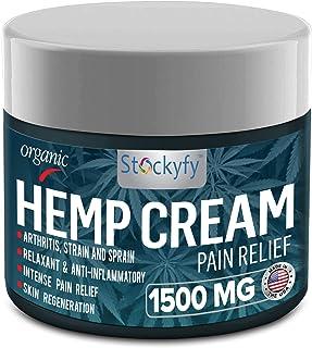 Hemp Cream Pain Relief 1500 mg - Arthritis Pain Cream, Back Pain, Joint Pain Relief Cream Efficient Inflammation Cream- 2oz - Made in USA