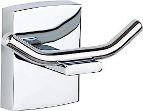Tesa klaam hak ścienny (podwójny hak) (w zestawie z mocowaniem mocującym, chromowany, nierdzewny, 61 mm x 96 mm x 47 mm)