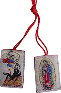 Saint Michael Archangel Angel Red Scapular Escapulario De San Miguel Rojo