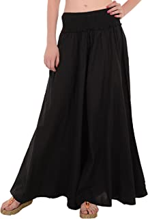 Skirts & Scarves Women's Cotton Long Palazzo Pants for Women Trouser