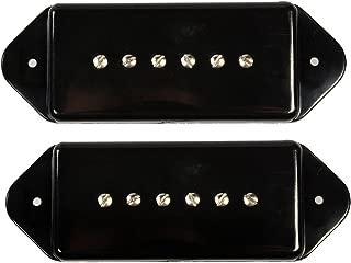LYWS Set of 2Pcs Black P90 P-90 Dogear Dog Ear Bridge /& Neck Pickup Cover 50mm 52mm For Gibson Dogear