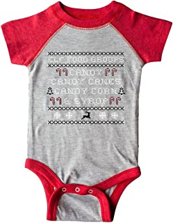 inktastic Elf Food Groups Faux Sweater Infant Creeper