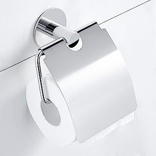 Hoomtaook Porte Papier Toilette Adhesif Porte Rouleau Papier Toilette Montage Mural Inox Porte Papier Toilette Avec Couver...
