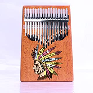 VI VICTORY 17 Key Colorful Kalimba African Thumb Piano Finger Percussion Keyboard Music Instruments - Indian