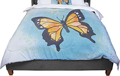 104 X 88 KESS InHouse Viviana Gonzalez Pastel Vibes 03 Blue White King Cal King Comforter