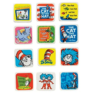 Raymond Geddes Dr. Seuss Character Erasers, 60 Pack (68509)