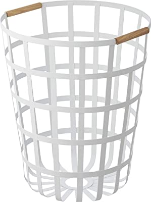 山崎実業 洗濯かご 丸型 ランドリーバスケット トスカ ラウンド ホワイト 3356