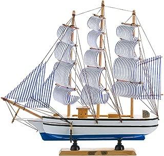 純木ヨットの装飾品ワインキャビネットの装飾ホームアクセサリーセーリングヨットセーリングボートモデル 現代の装飾品