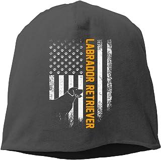 Unisex Beanie Cap Vintage USA Labrador Retriever Silhouette American Stretch Beanie Hat Casual Cap Soft Slouchy Skull Cap ...