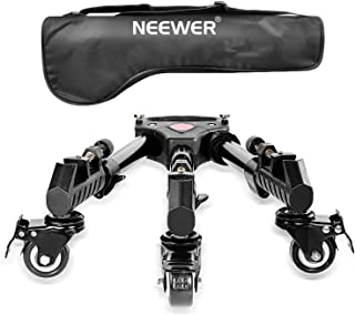 Neewer Photography Professional Heavy Duty Tripod Dolly with Rubber Wheels and Adjustable..