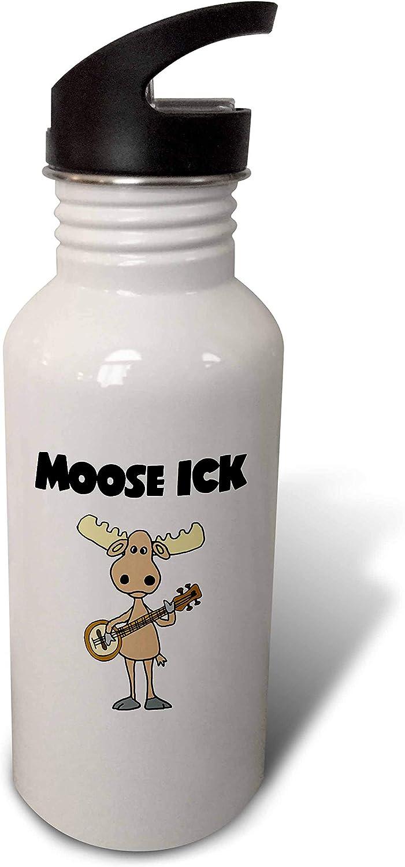 3dRose Funny Moose Playing Banjo Ranking TOP9 Max 56% OFF Music - Bot Water Pun ick