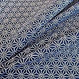 Stoff Baumwollstoff Meterware blau indigo weiß Japan