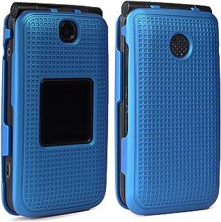 Case for Alcatel Go Flip V, Nakedcellphone [Cobalt Blue] Protective Snap-On Cover [Grid Texture] for Alcatel Go Flip, MyFl...