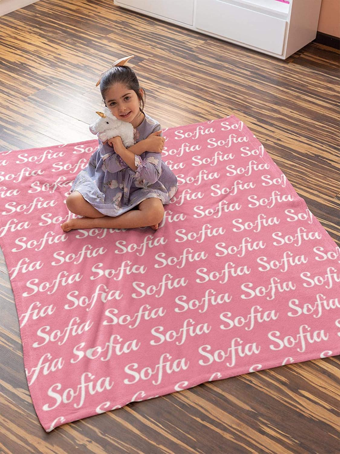 Personalized Name Blanket for Your Daughter 商舗 Custom 正規認証品 新規格 Throw Blanke
