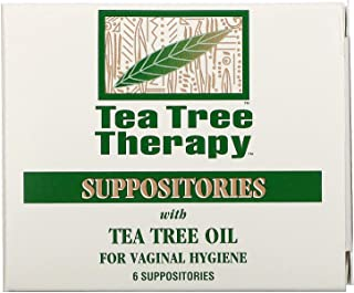 Tea Tree Therapy Suppositories with Tea Tree Oil for Vaginal Hygiene 6 Suppositories