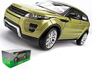 Simulation Alloy Car Model Toy Ornaments Die Casting Car Model Static Proportional Car Model Gift Land Rover Evoque Pull Back Car Model ( Color : Green , Size : 1886CM )