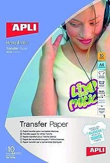APLI 4128 - Papel transfer ropa blanca 10 hojas