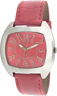 Viva Silver-Tone Pink Dial And Pink Strap Watch #V1760PK