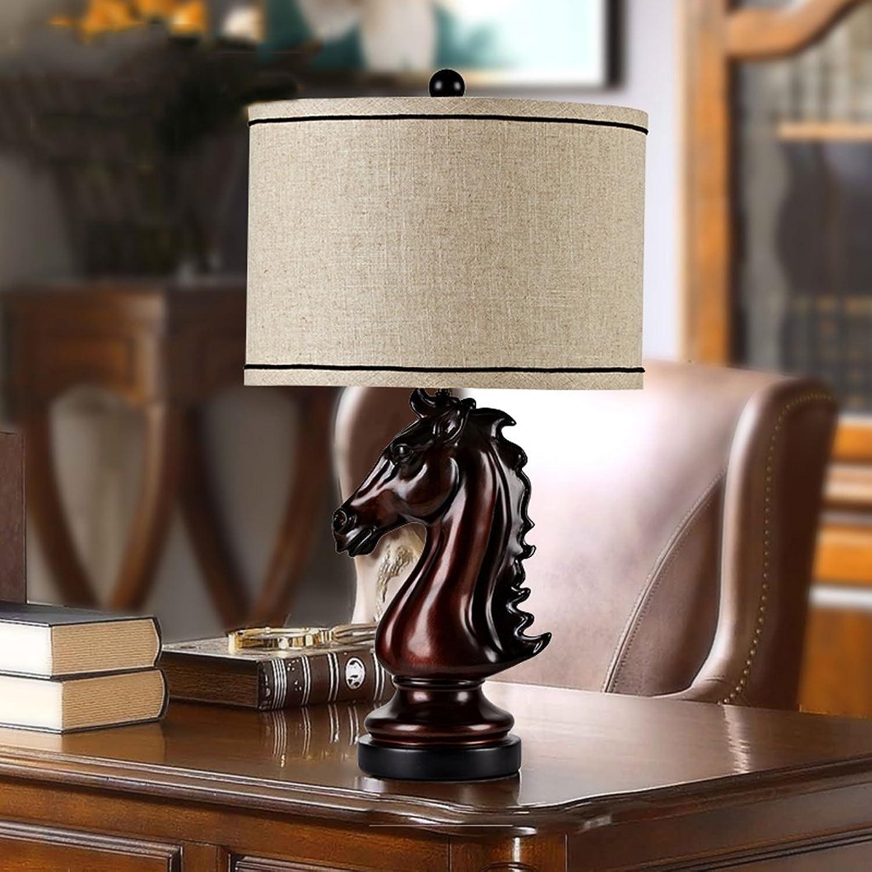 Europäische Europäische Europäische Stil Lampe Retro Kunst Pferd Kopf Lampe Lampe Schlafzimmer Wohnzimmer American Style Lampe B073NMK1HJ     | Schnelle Lieferung  080dae