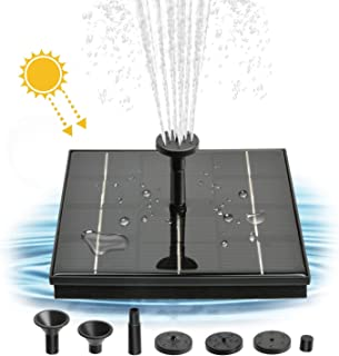 Solar Fountain Pump, 4W Free Standing Bird Bath Fountain Water Pump, Outdoor Floating Fountain Pump Kit for Garden, Pool, Pond, Patio Ideal Decoration