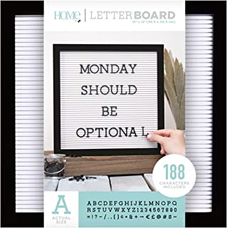 DCWVE Die Cuts with A View Board Letterboard-12 x 12-Black and White (189 pcs) LB-006-00003, 12 x 12