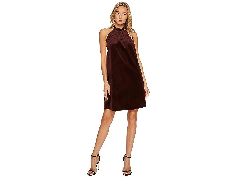 Bishop + Young Talia Velvet Dress (Burgundy) Women
