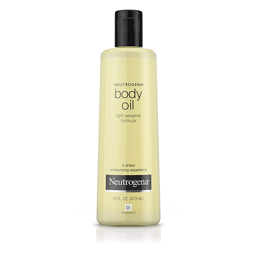 区別するキャンバス人里離れたNeutrogena Body Oil Light Sesame Formula, 16 Fluid Ounce (473 ml)