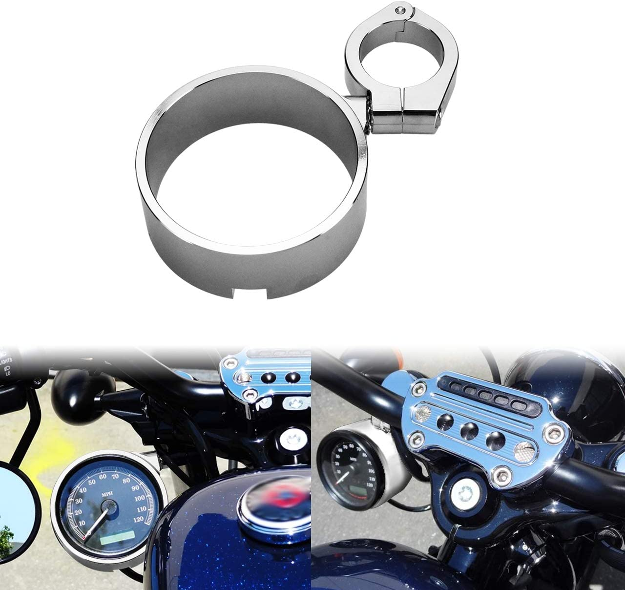 HDBUBALUS Excellent Speedometer Ring Side Mount Bracket Relocator Fi Clamp Limited Special Price