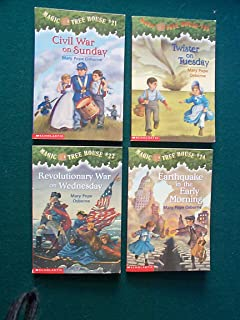 Magic Tree House, Books 21-24: Civil War on Sunday, Revolutionary War on Wednesday, Twister on Tuesday, Earthquake in the ...