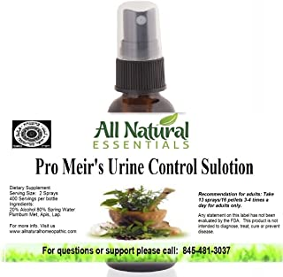 Pro Meir's Urine Control Sulotion 1oz Homeopathic Remedy, Bedwetting, Overactive Bladder Control, Stops Frequent Urination, Urinary Incontinence/Urgency, Bladder Strength Urinary Tract Support, kosher