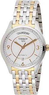 ساعة يد تي-ون بمينا فضي وسوار بلونين للرجال من تيسوت T038.430.22.037.00