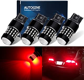 Daytime Running Lights Parking Lights BRISHINE 4-Pack 1000 Lumens Super Bright 7440 7443 7441 7444 W21W LED Bulbs 6000K Xenon White 24-SMD LED Chipsets with Projector for Backup Reverse Lights