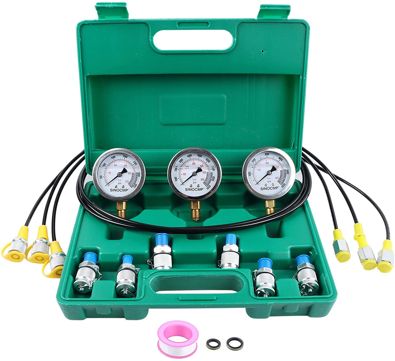 Upgraded Version Hydraulic Max 62% OFF Pressure Gauge Kit - Overseas parallel import regular item Excavato SINOCMP