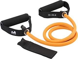 Reehut Single Resistance Band, Exercise Band with Door Anchor, Manual, Carry Bag - for Resistance Training, Strength Training, Physical Therapy, Home Workouts