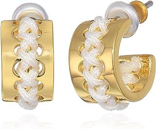 kate spade new york Womens Huggies Drop Earrings, White